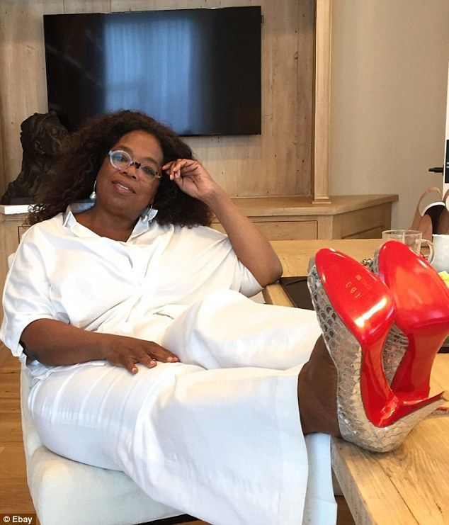 49f6a821401 Oprah s autographed Louboutin heels get nearly  17K at charity ...
