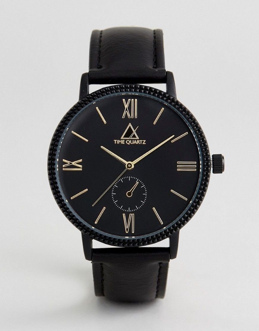 Get this Asos's watch now! Click for more details. Worldwide shipping. ASOS Watch With Black Faux Leather Strap And Gold Highlights - Black: Watch by ASOS, Faux leather strap, Textured case, Three hand movement, Sub-dial style design, Gold-tone highlights, Mixed indices, Single crown to side, Pin buckle fastening, Sub dial is for decoration only. ASOS menswear shuts down the new season with the latest trends and the coolest products, designed in London and sold across the world. Update your…