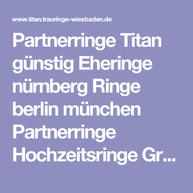 Partnerringe titan gunstig