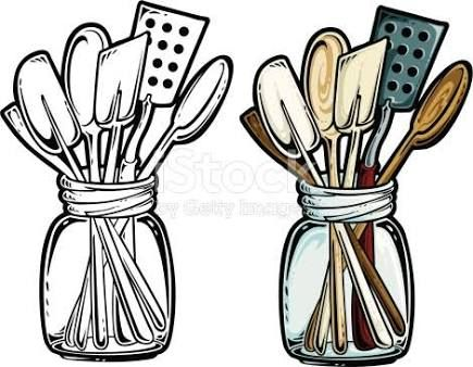 Black And White Kitchen Clipart