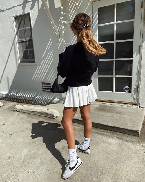 The Skirt Trend Fashion Girls Are Suddenly Obsessed With In 2020 Tennis Skirt Outfit Skirt Trends Fashion
