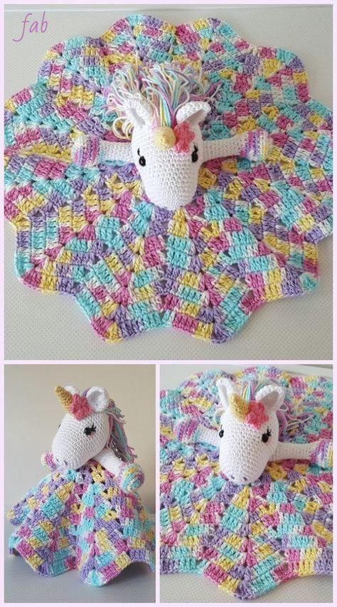 Amigurumi Unicorn Security Blanket Free Crochet Pattern ...