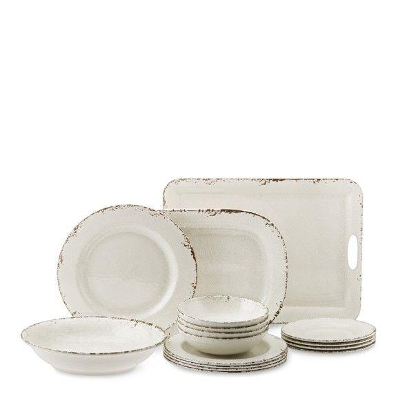 Rustic Outdoor Melamine Dinnerware Collection In 2020 Rustic Dinnerware Rustic House Melamine Dinnerware