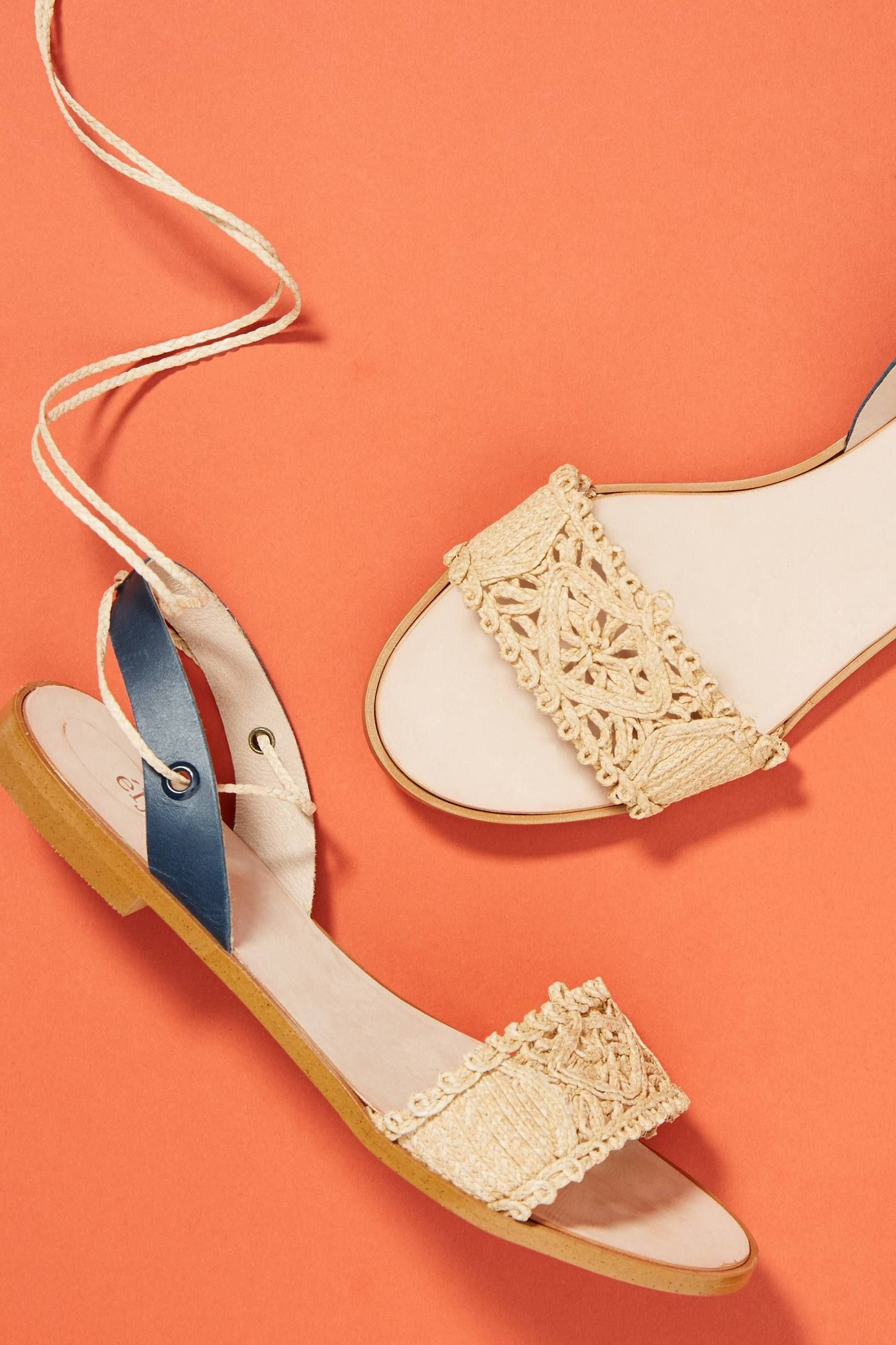 7a07a47e66 Shop the Elysess Tie-Up Sandals and more Anthropologie at Anthropologie  today. Read customer reviews, discover product details and more.