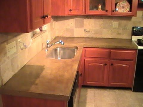 Hey Folks Who Wants Concrete Countertops This Is The Easiest Amazing Concrete Kitchen Countertops 2018
