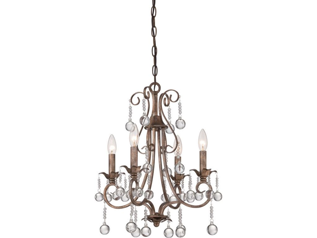 Quoizel Lamps and Lighting Chandelier With 4 Lights CPN5004EG - The Village Shoppe - Yakima, WA