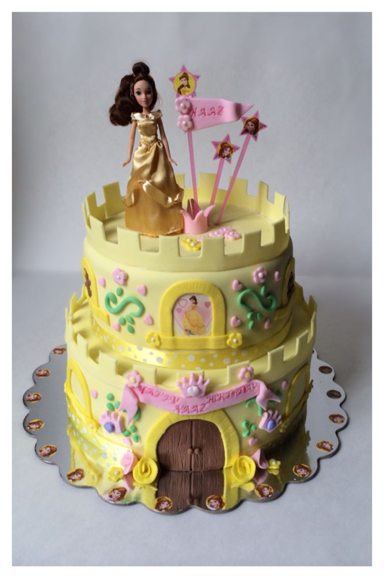 Princess Belle themed birthday cake My cakes Pinterest