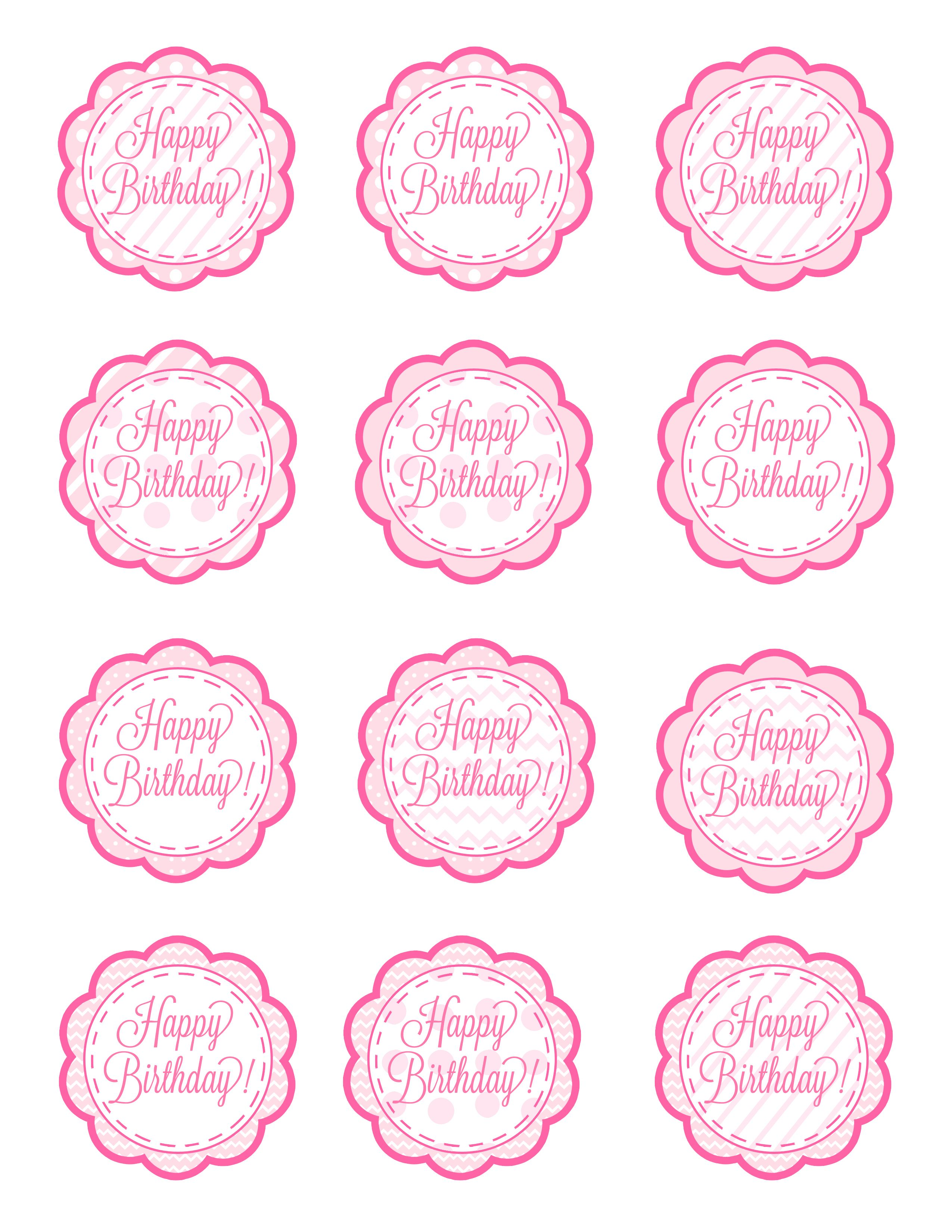 Happy Birthday Cupcake Topper ~ American girl free cupcake toppers printable these could also easily double as gift tags just
