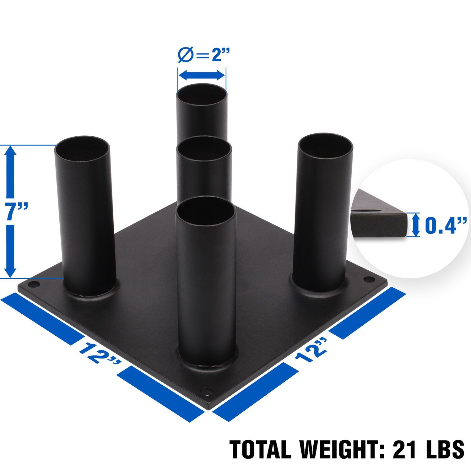 Yes4All Barbell Holder 5 Bars Vertical Storage Display