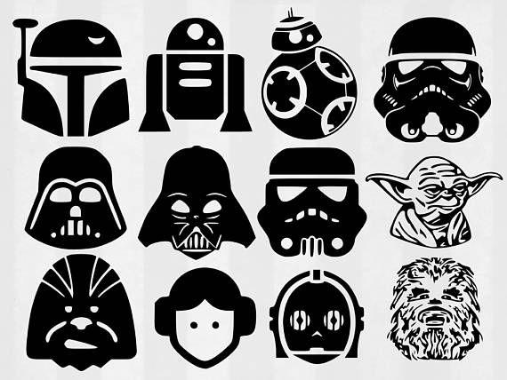 Star Wars Svg Bundle Star Wars Clipart Star Wars Cut Files