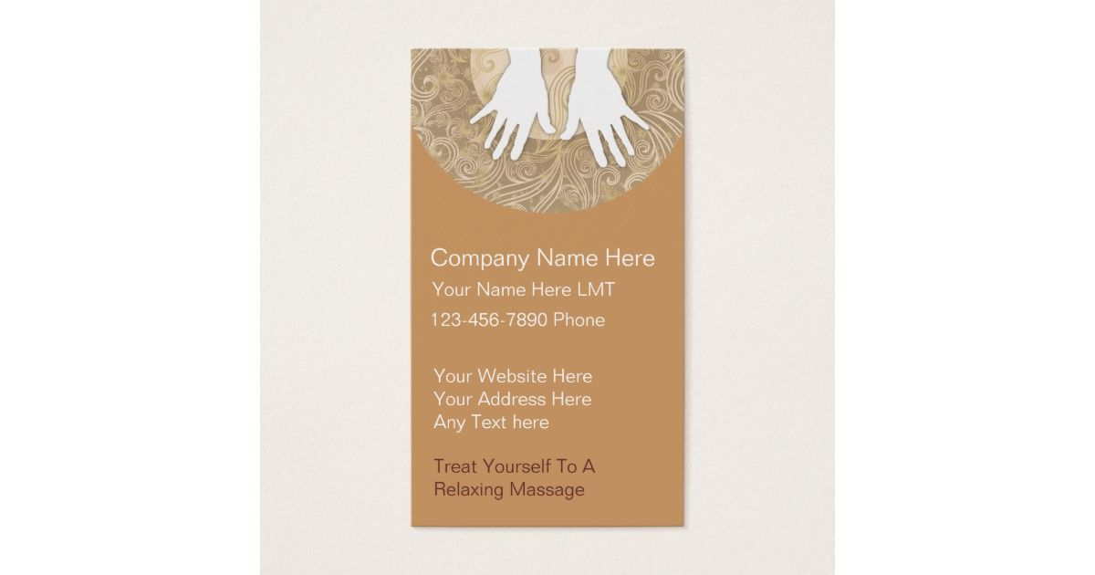 Massage Business Cards | Massage business