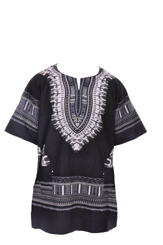 f407267fd31 Plus Size Black African Unisex Dashiki Shirt DP3578 XL