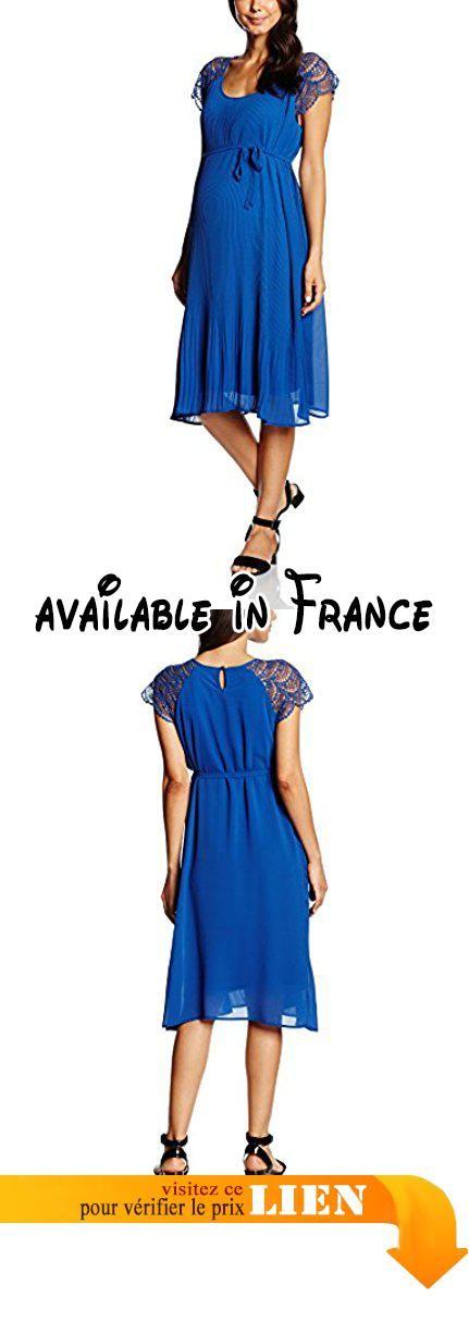 S Woven Dress, RobeMaternité Femme, (Mazarine Blue), 38 (Taille Fabricant: Medium)