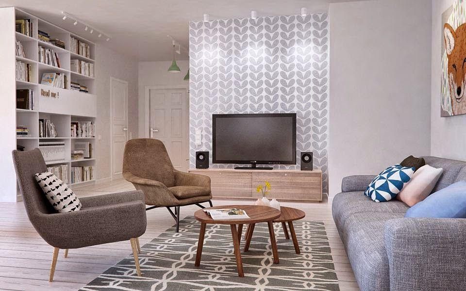 Conceito Aberto No Apartamento De Um Jovem Casal  Europa  Pinterest Awesome No Furniture Living Room Design Ideas