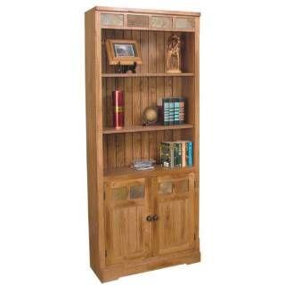 Sunny Designs 2862ro Bd Sedona Bookcase Doors In Rustic Oak Tall