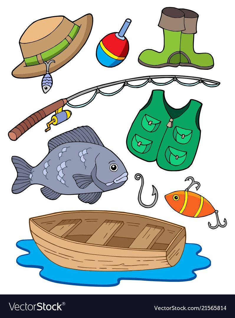 Fishing Equipment Vector Image On Fishing Equipment Free Fishing Gear Fish Clipart