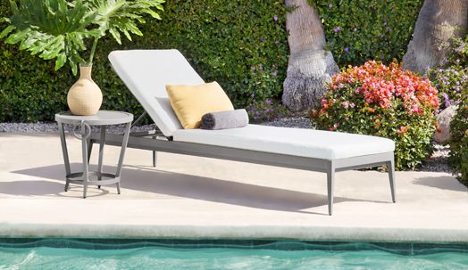 Luna adjustable chaise and occasional table