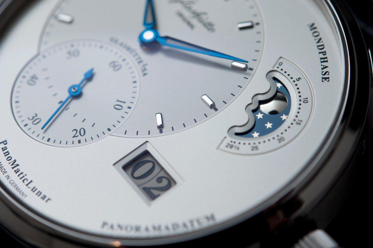 Glashütte Original PanoMaticLunar Date and Moon Phase Macro