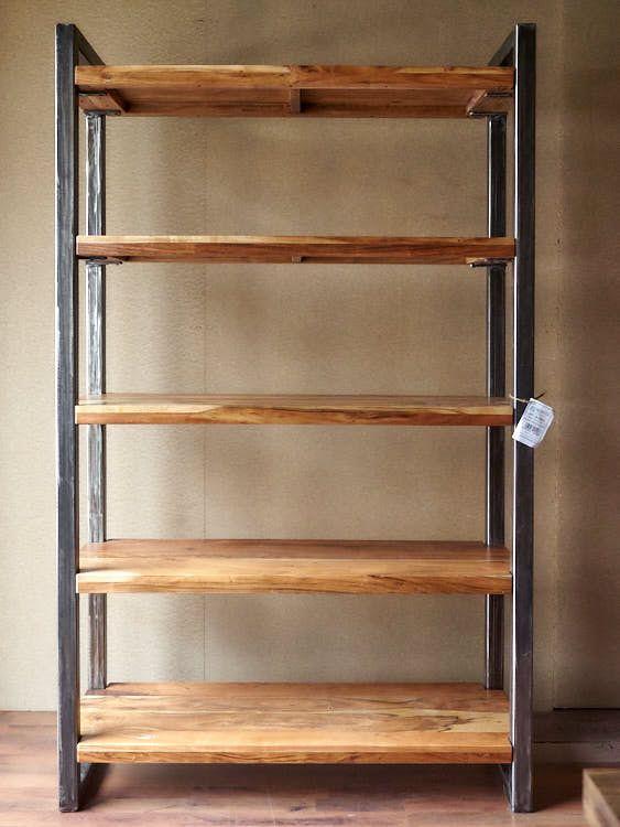 Libreria Legno Prezzi.Libreria Legno Ferro Stile Industriale My Room Design Nel