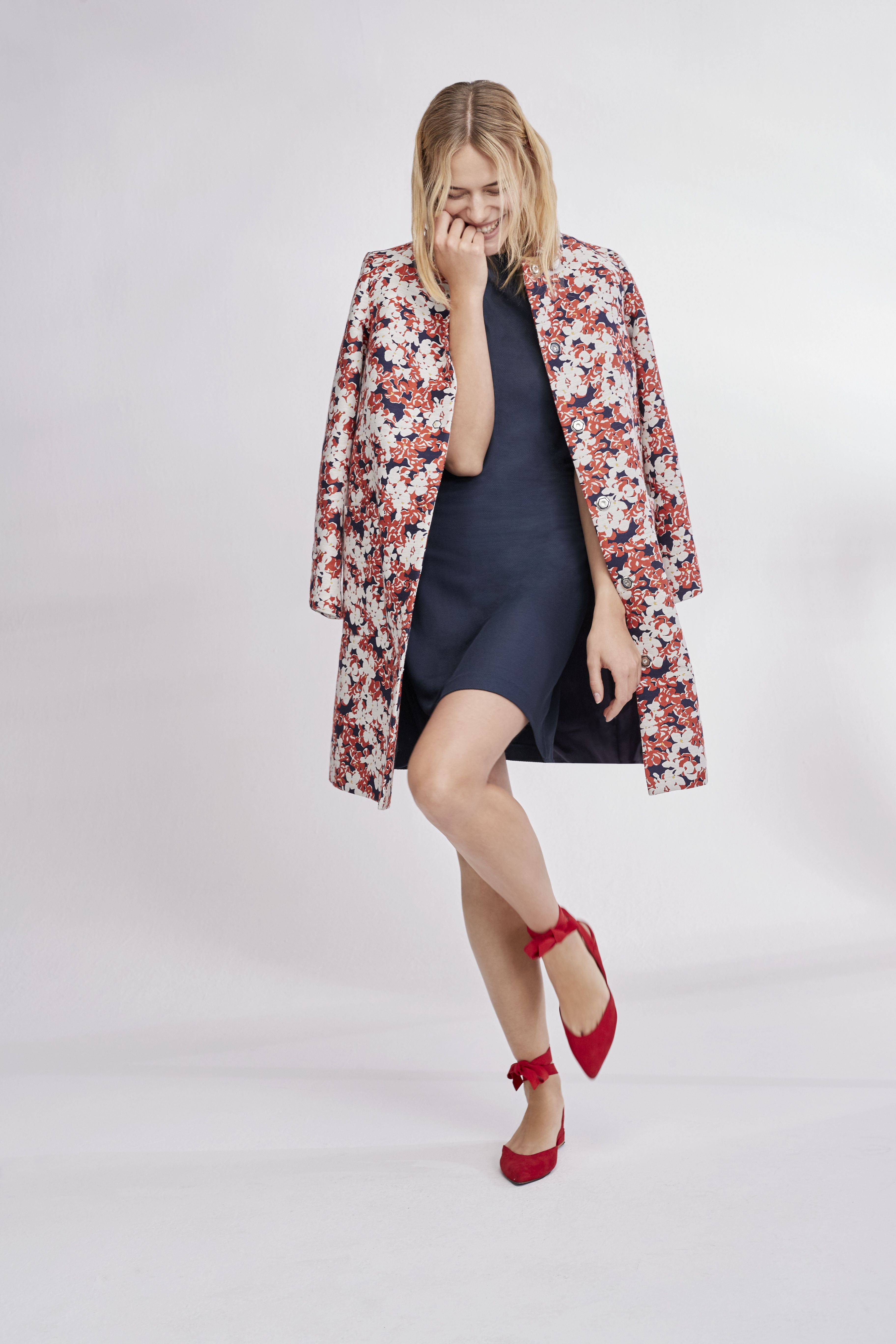 Florals are big for spring, from formal jackets to pretty camis.