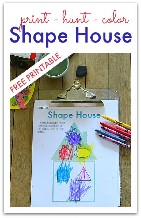 Shape Hunt Worksheet FREE Printable Shapes worksheet