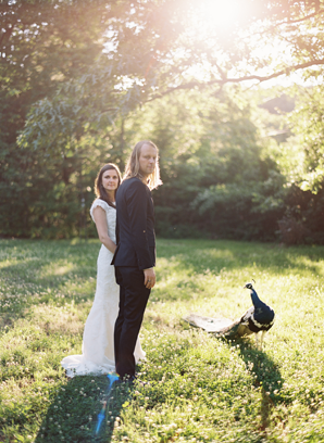 Peacock at a wedding Outdoor Rustic Polish Wedding via Once Wed Photography by Ozzy Garcia
