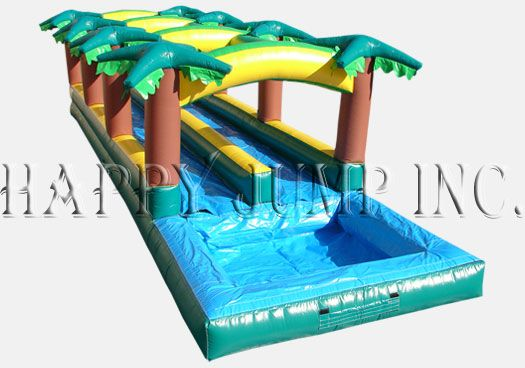 Hawaiian Slip And Slide Double Lane W Pool Our Slides With Pools