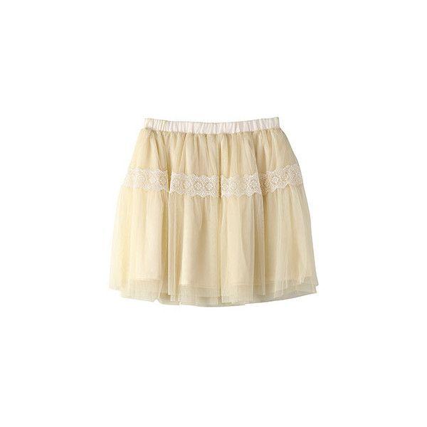 【ELLE SHOP】バナー バレット チュールスカート ファッション通販 エル・ショップ (1 185 SEK) ❤ liked on Polyvore featuring skirts, bottoms, saias, gonne and brown skirt