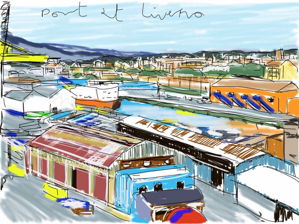 Craig Longmuir, 'Port at Liverno, Italy', ipad drawing from observation.
