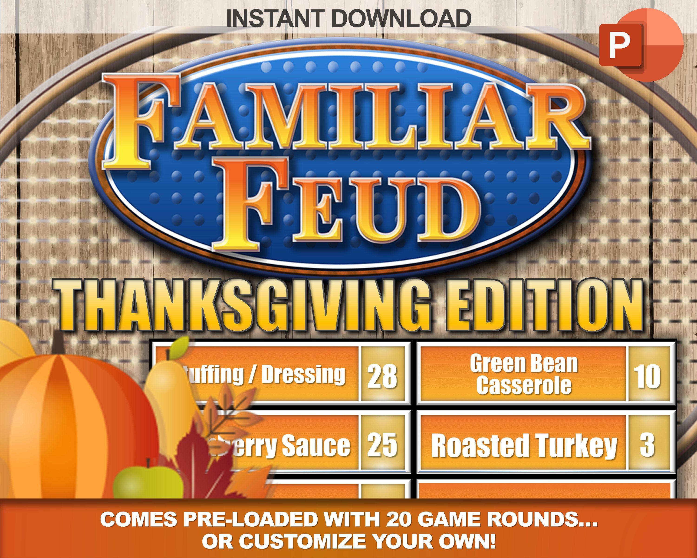 Thanksgiving Familiar Trivia W Working Scoreboard Interactive