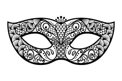 Delightful Mardi Gras Mask Clipart Black And White   ClipartFest