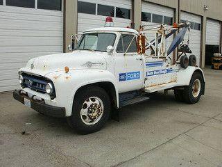1953 Ford F750 Big Job Holmes 515 Wrecker Tow Truck Ford Trucks Big Trucks