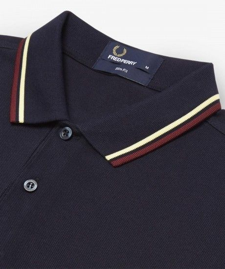 bf60a6a2463 Fred Perry - Slim Fit Twin Tipped Fred Perry Shirt