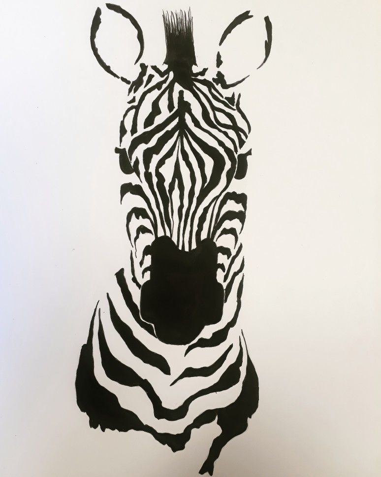 Cebra Dibujo Dibujos A Tinta Dibujos Tinta China Tinta China