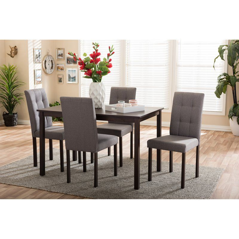 Elegant Made Out Of Solid Rubberwood And Wood Veneer, The Andrew 5 Piece Dining Set  Would Be The Perfect Addition To Any Home Dining Room Or Kitchen Nook.