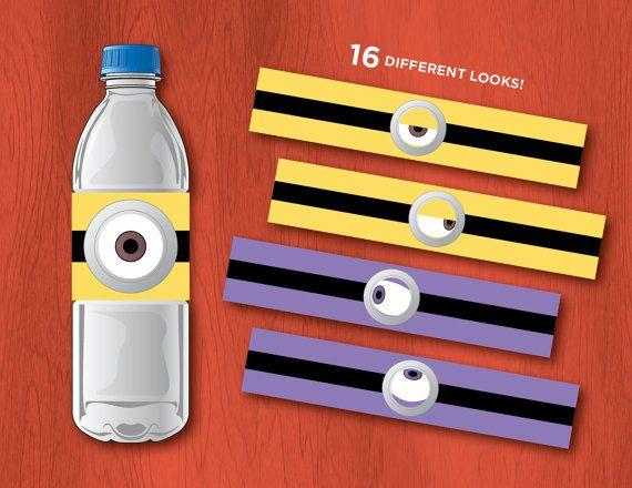 Printable DESPICABLE ME Water Bottle Labels by PressedPixels