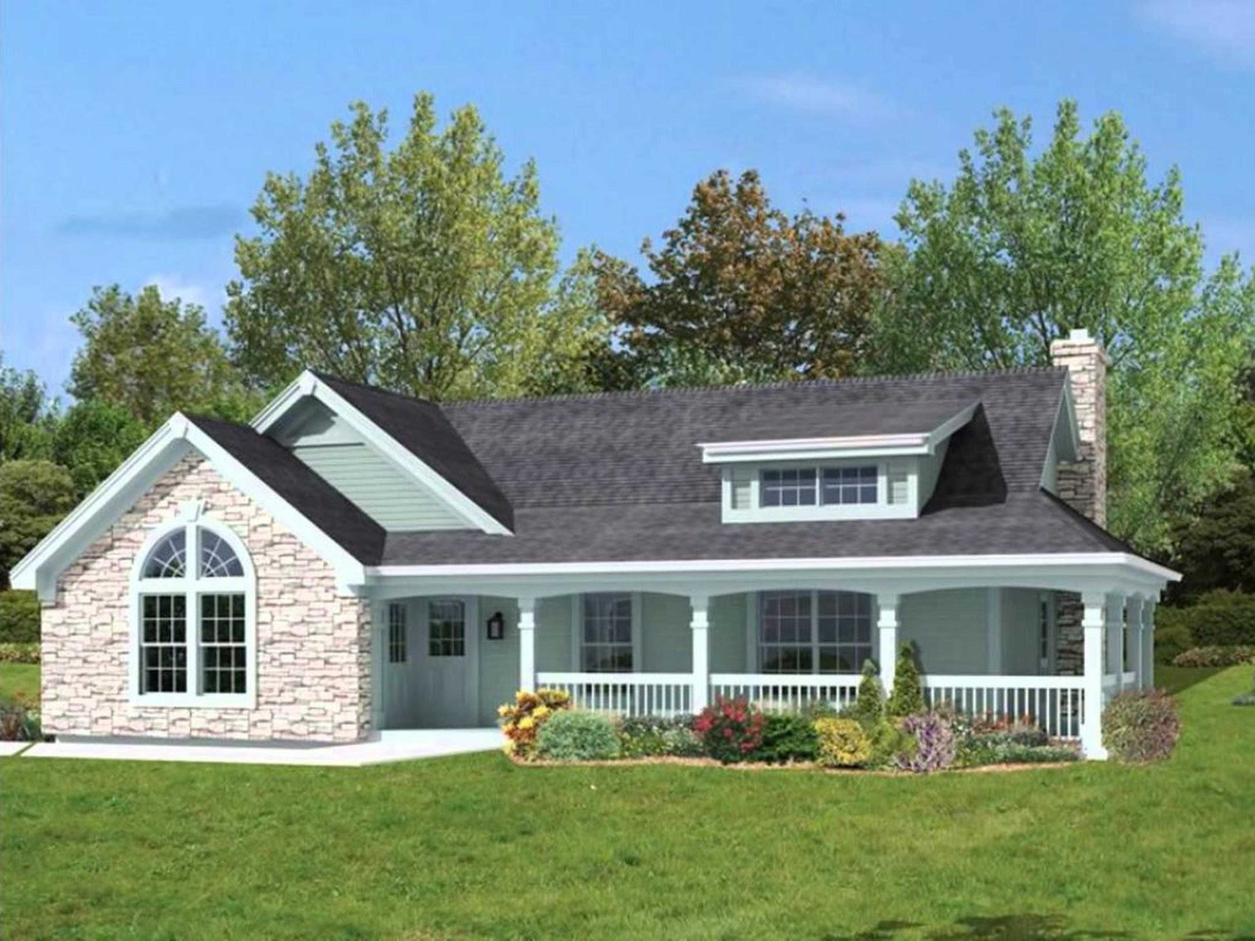 one story house plans with wrap around porch