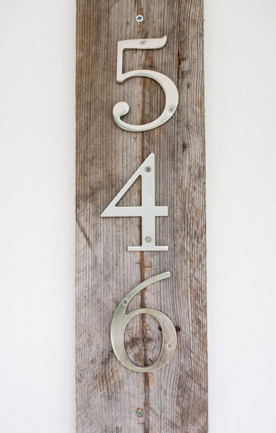 Modern Rustic House Numbers by MyRusticInspiration on Etsy 2495