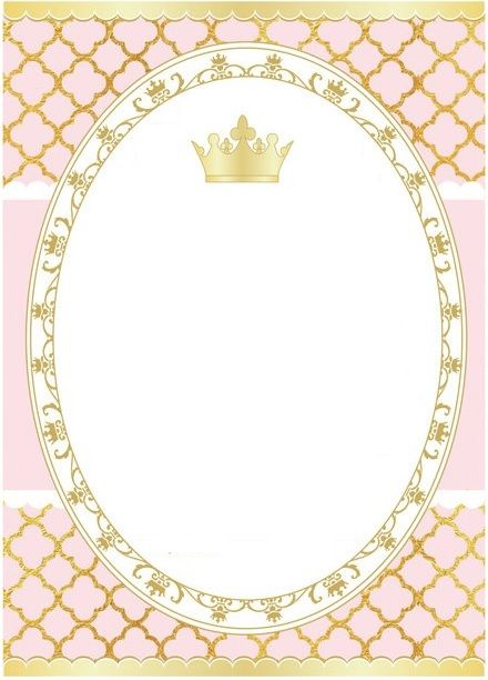 Blank Baby Princess Birthday Party Shower 1st