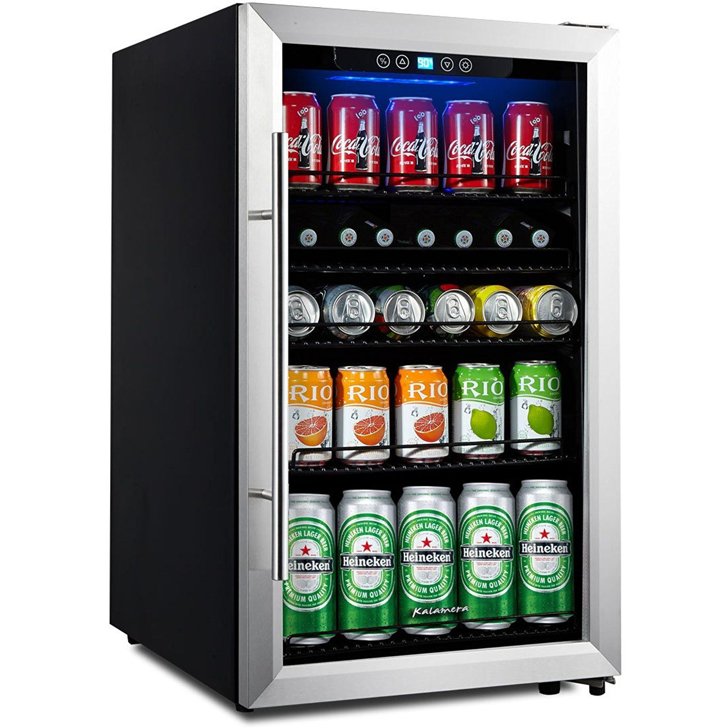Kalamera 138 can Beverage Refrigerator, Compact and cool