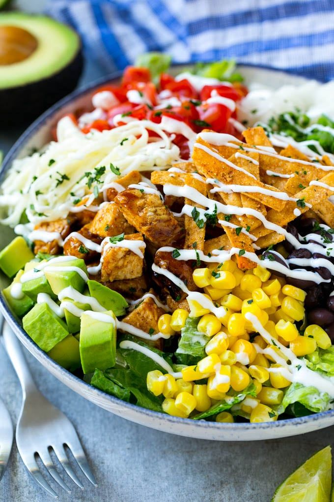 This Bbq Chicken Salad Is A Fresh And Colorful Combination