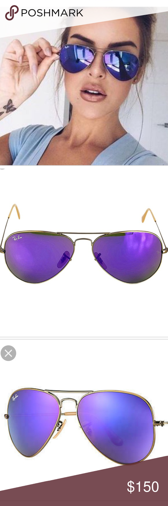 Ray-Ban Lightweight Clubmaster Sunglasses featuring