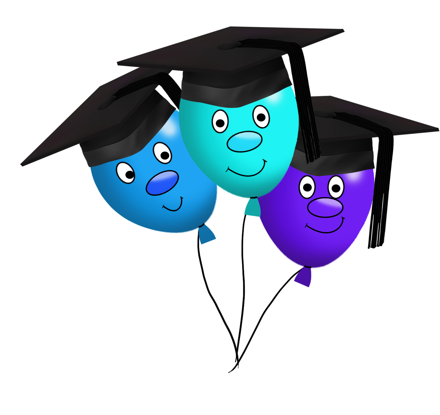 funny graduation balloons clipart