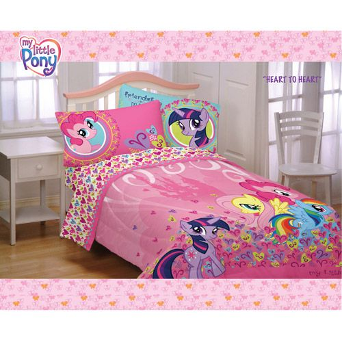 My Little Pony Heart to Heart Comforter Definitely NOT getting this for my  new bed. My Little Pony Heart to Heart Comforter Definitely NOT getting