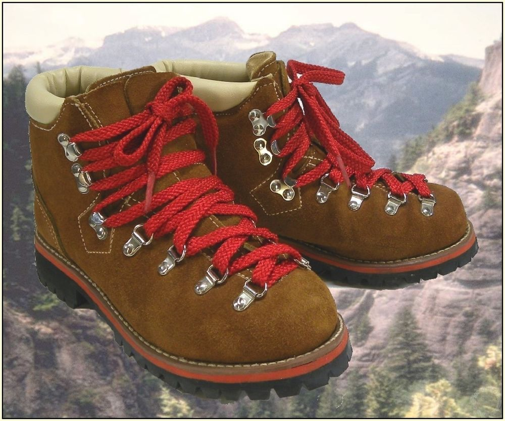 304a0f68a6cf 1970 s - 1980 s Vintage JC Penney Red Lace Vibram Sole Hiking Boots ...