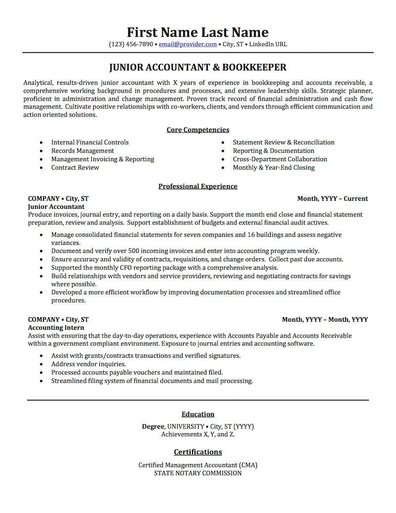 Resume Examples Accounting , ResumeExamples Resume