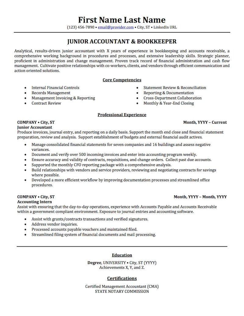 Resume examples accounting resumeexamples resume