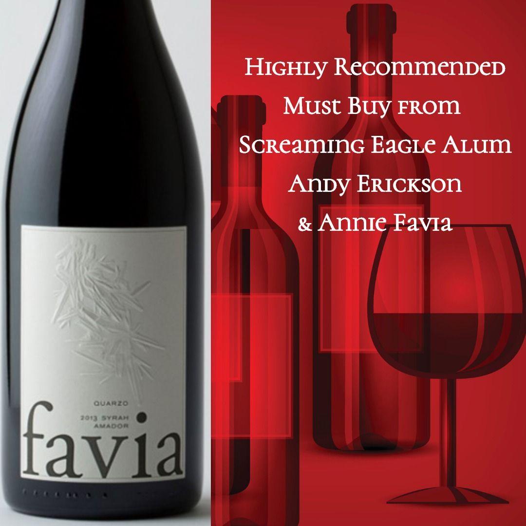 Favia Quarzo Syrah 2013 Syrah Amador County Wine Bottle