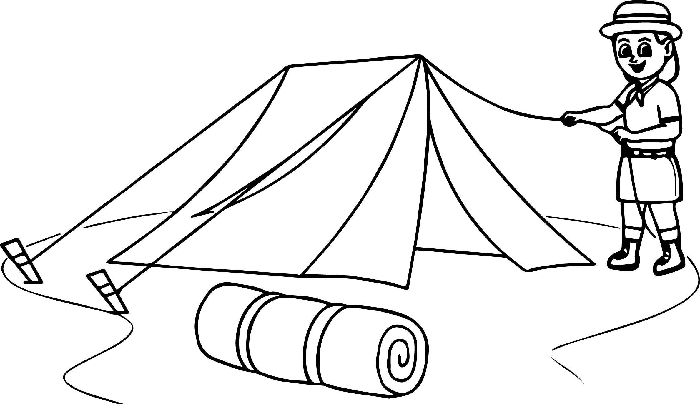 Cool Boy Scout Camping Coloring Page Camping Coloring Pages Boy