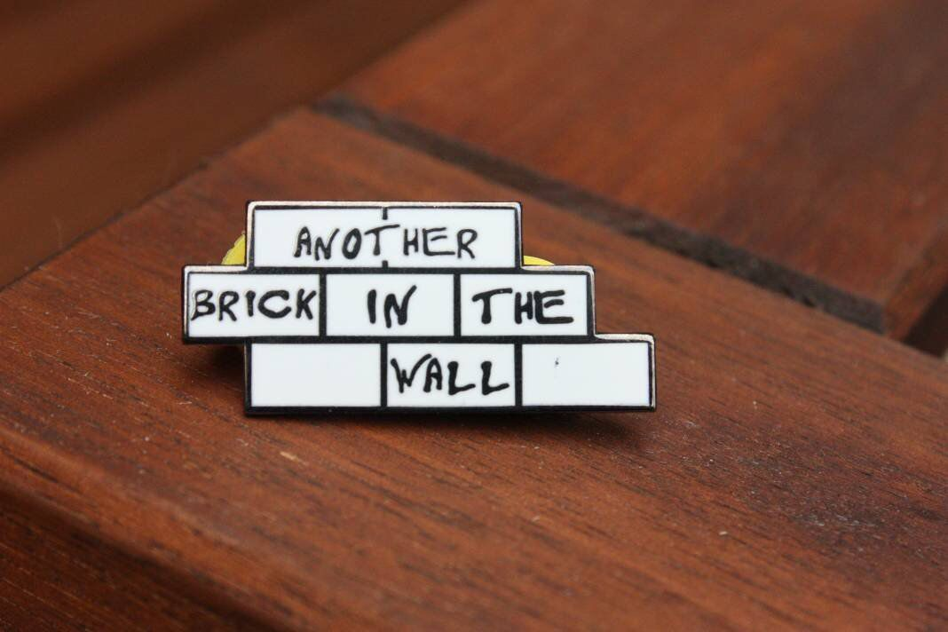 Another Brick In The Wall Enamel Pin Pink Floyd Brick In The